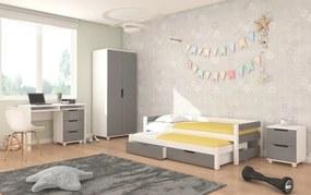 Moderný detský nábytok Lerwick - sivý