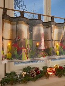 Krátka záclona so 4 LED svetlami Schäfer pestrá