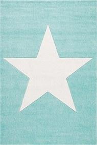 MAXMAX Dětský koberec STAR  mátovo-bílý 100x160 cm 80x150 cm 120x180 cm 160x230 cm 100x160 cm