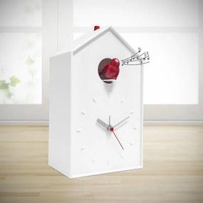 Nástenné / stolové hodiny s kukučkou BALVI Cucu (biele) 26802