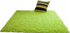 Plyšový koberec Zelený 140x200 cm