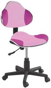 SIGNAL Q-G2 kancelárska stolička ružová