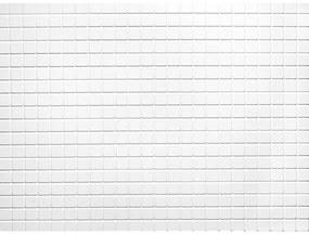 Obkladové 3D PVC panely 06, rozmer 440 x 580 mm, mozaika biela matná, IMPOL TRADE