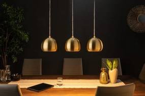 Dizajnová závesná lampa Giovani 3 zlatá