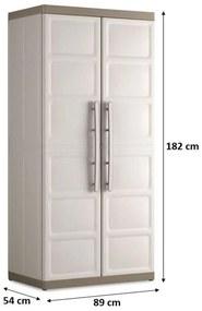 KIS EXCELLENCE XL HIGH skriňa 89x54x182cm béžová