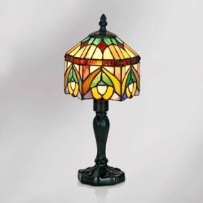 Dekoratívna stolná lampa Jamilia v štýle Tiffany