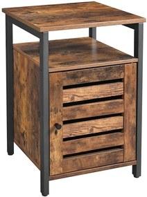 Rongomic Noční stolek VASAGLE Nilas hnědý