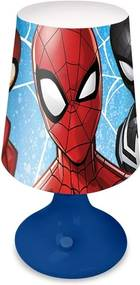 EUROSWAN Nočná stolná LED lampička Spiderman Plast, 18x9 cm