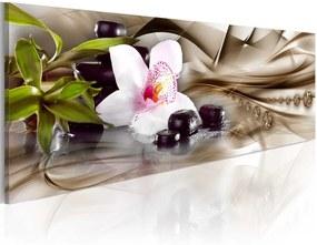 Obraz na plátne - Zen composition: beige 120x40 cm,