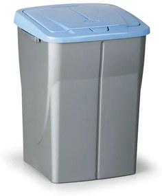 Plastový odpadkový kôš 45 l, modré veko