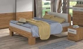 COLORADO - posteľ 180x200 cm dub wotan/biela