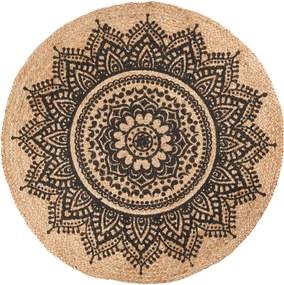 IB LAURSEN Jutový koberec Rosette 100cm