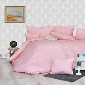 Obliečky damaškové ružové Emi 1x Vankúš 90x70cm, 1x Paplón 140x200cm