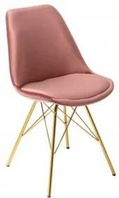 RETRO GOLD stolička Ružová