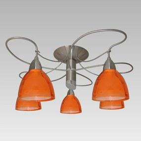 Stropné svietidlo PREZENT CARRAT oranžová / nikel 12040