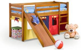 Detská poschodová posteľ so šmýkačkou Neo Plus jelša Halmar