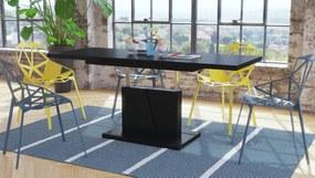 GRAND NOIR čierna, rozkladací, konferenčný stôl, stolík