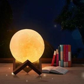 InnovaGoods Stolná lampa mesiac 3D - 15cm InnovaGoods