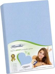Bellatex Jersey prestieradlo Kamilka svetlo modrá, 200 x 220 cm