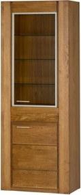Dvojdverová vitrína z dubového dreva s pántmi na pravej strane Szynaka Meble Velvet