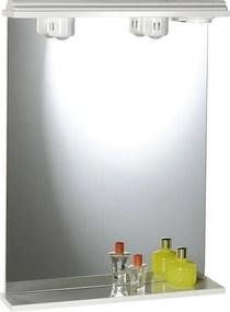 SAPHO EKOSET zrkadlo s osvetlením 50x75cm, biela 57054