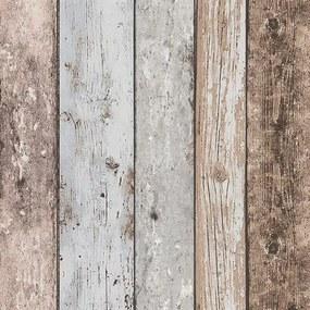 Vliesové tapety, drevo modro-hnedé, Wood´n Stone 855039, A.S. Création, rozmer 10,05 m x 0,53 m