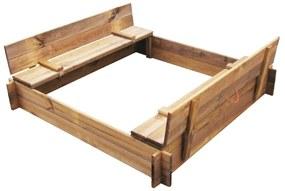 vidaXL Pieskovisko, impregnované drevo, štvorcové