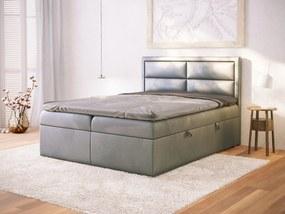 PROXIMA.store - Kontinentálna posteľ VIVIERO - tmavosivá - 120/140/160/180 Veľkosť postele: Pre matrac 120 x 200 cm
