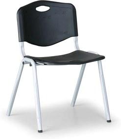Plastová jedálenská stolička HANDY, čierna