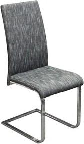OVN jedálenská stolička IDN 8857CS2 čiernobiely melír/kov