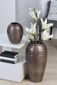 Váza keramická Salvador, 26 cm, bronzová - bronzová