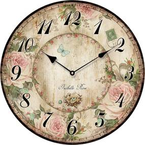 Isabelle Rose Drevené nástenné hodiny ISABELLE ROSE 15 cm
