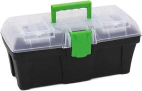 PROSPERPLAST GREENBOX Plastový kufor na náradie transparentné, 398 x 200 x 186 mm N15G