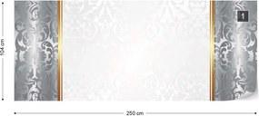 Fototapeta GLIX - Silver And White Luxury  + lepidlo ZADARMO Vliesová tapeta  - 250x104 cm