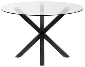 Guľatý jedálenský stôl so sklenenou doskou La Forma, ø 119 cm