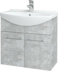 Dřevojas - Koupelnová skříň TAKE IT SZD2 65 - D01 Beton / Úchytka T02 / D01 Beton (133238B)