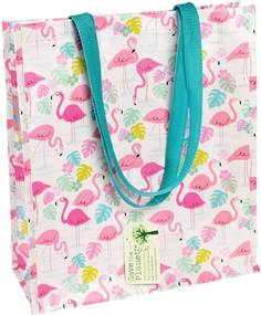 Nákupná taška z recyklovaných plastových fliaš Rex London Flamingo Bay