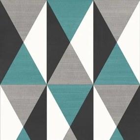 Vliesové tapety, kocky modré, čierne, Just Like It J67901, UGEPA, rozmer 10,05 m x 0,53 m