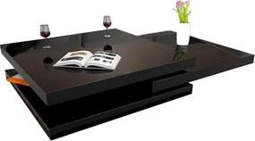 Otočný konferenčný stolík, čierna vysoký lesk HG, SONIC