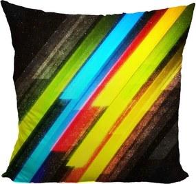 Vankúš Pruhy farieb (Veľkosť: 40 x 40 cm)