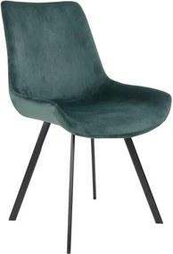 Dizajnová stolička Brinley zelený zamat