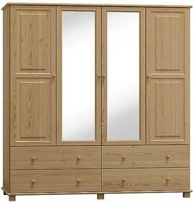 AMI nábytok Skříň č.4 ořech šířka 160 cm