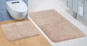 Brotex Kúpeľňová sada predložiek Micro 60x100 + 60x50cm hneda