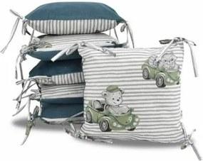 Vankúšikový mantinel Baby Nellys, Baby Car, velvet + bavlna - zelená Baby Nellys 118112