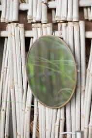 IB LAURSEN Okrúhle zrkadlo v kovovom ráme