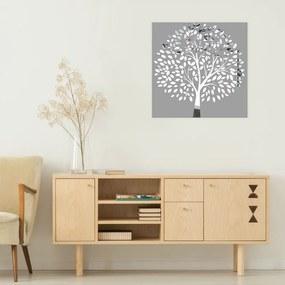 Obraz Sivý Strom na zrkadle Mirrora 53 - 50x50 cm