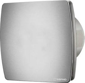 SAPHO - LEX koupelnový ventilátor axiální s časovačem, 15W, potrubí 100mm, nerez (LX104