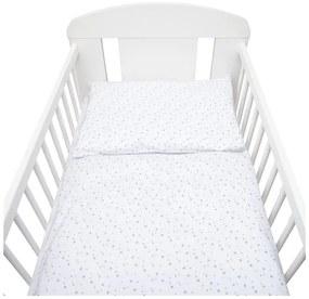 NEW BABY Hviezdičky 2-dielne posteľné obliečky New Baby 90/120 cm biele sivé hviezdičky Biela |