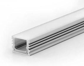 LED Solution Nástenný profil pre LED pásiky vodeodolný IP67 varianty: Profil + Koncovky + Matný kryt 1m