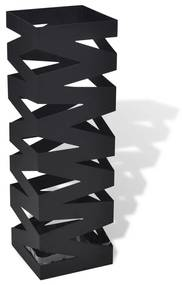 Čierny hranatý stojan na dáždniky a palice na prechádzku 48,5 cm